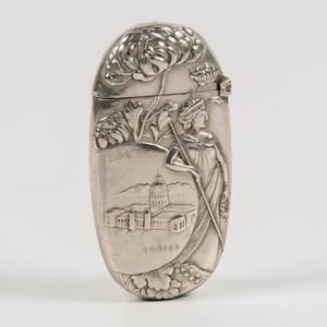 1893 Chicago World's Fair Silverplated Match Safe