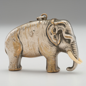 Elephant Figural Silverplate Match Safe