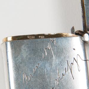 .800 Silver Match Safe with Ceramic Portrait