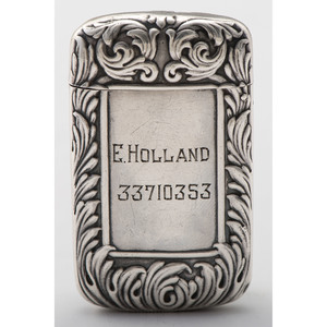 Howard Sterling Match Safe with Hidden Photo Compartment