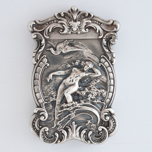 William B. Kerr & Co. Sterling Match Safe with Nude Figure