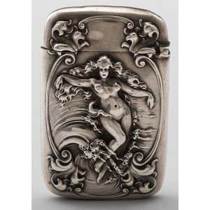 Gorham Sterling Art Nouveau Match Safe