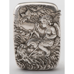 Gorham Sterling Match Safe with Sea Creature