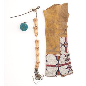 Cheyenne Child's Beaded Hide Legging PLUS Plains Toys