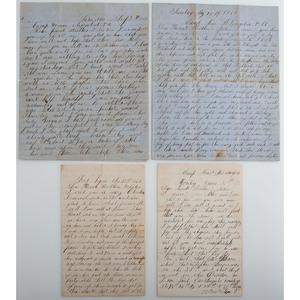 Private LaForest J. Martin, New York 26th Infantry, KIA, Manuscript Archive