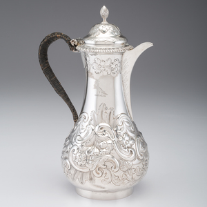 Georgian Sterling Coffee Pot, Benjamin Brewood