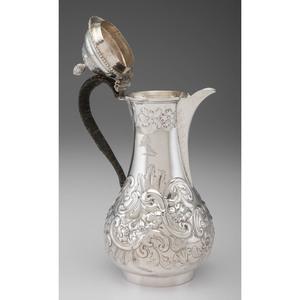 Georgian Sterling Coffee Pot, Benjamin Brewood