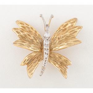 Tiffany & Co. 18 Karat Yellow Gold Butterfly Brooch