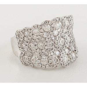 Gabriel & Co. 14 Karat White Gold Ring.