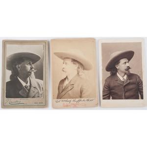 Three Cabinet Cards of Buffalo Bill Cody