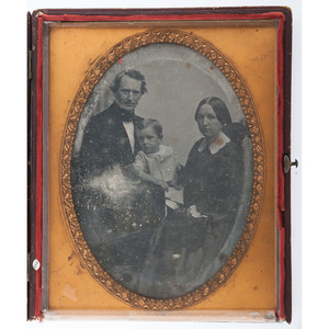 Whole Plate Daguerreotype of a Family