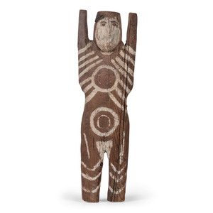 Charlie Willeto (Dine, 1897-1964) Folk Art Wood Figure, From The Harriet and Seymour Koenig Collection, NY