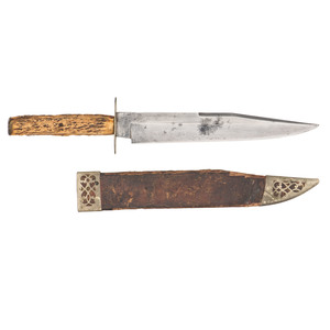 IXL Bowie Knife with Three-Panel Etched Blade