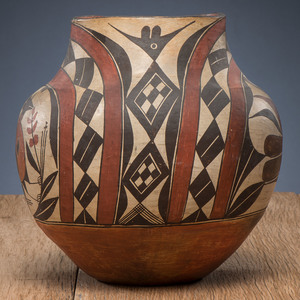 Acoma Four-Color Polychrome Pottery Jar, From The Harriet and Seymour Koenig Collection, NY