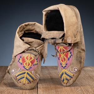 Blackfeet Beaded Hide Moccasins