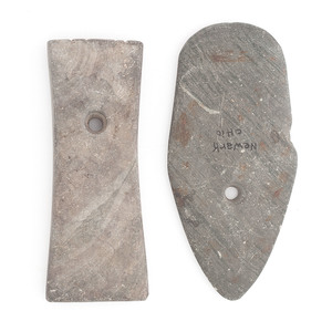 Two Slate Pendants, Deaccessioned from the Museum of the Fur Trade, Chadron, Nebraska