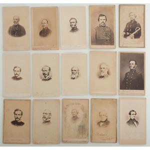CDVs of Civil War Generals, Mostly Confederate, Plus