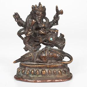 Sino-Tibetan Bronze Ganesh