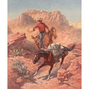 John Wade Hampton (American, 1918-2000) Oil on Canvas