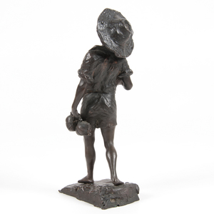Italian Bronze of a Boy Signed E. Giannetti