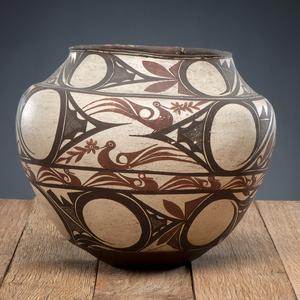 Zuni Polychrome Pottery Olla, From The Harriet and Seymour Koenig Collection, NY