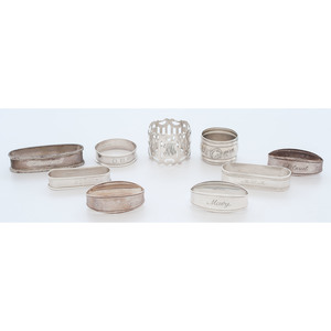 Sterling and .800 Silver Napkin Holders