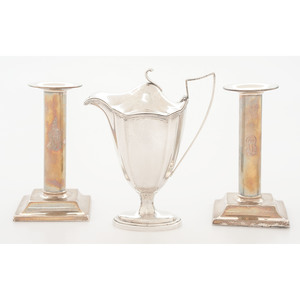 Gorham Creamer and Weighted Candlesticks