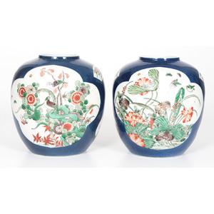 Kangxi-style Famille Verte Ginger Jars