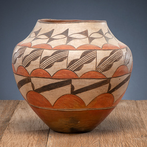 Zia Polychrome Pottery Olla, From The Harriet and Seymour Koenig Collection, NY