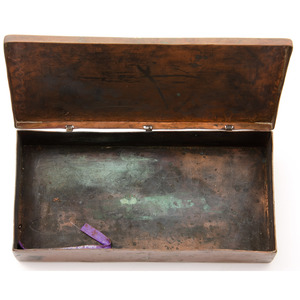 Navajo Copper and Silver Box, From The Harriet and Seymour Koenig Collection, NY