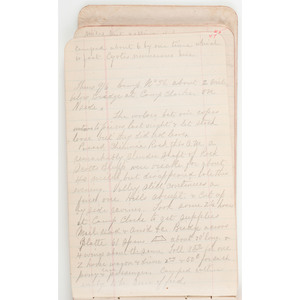 1883 Surveyor's Diary of William B. Lawson, Engineer for the Chicago, Burlington, & Quincy Railroad