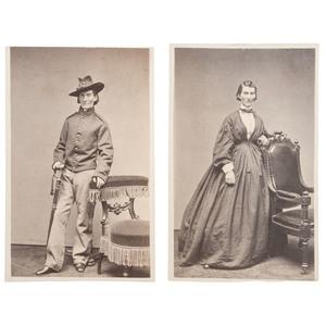Pair of Civil War CDVs of Frances Clayton by S. Masury, Boston