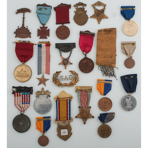 Collection of 36 GAR Badges, Reunion Ribbons, and More
