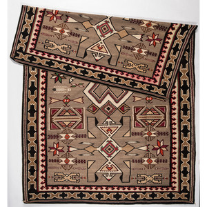 Navajo Teec Nos Pos Roomsize Weaving / Rug, From The Harriet and Seymour Koenig Collection, NY