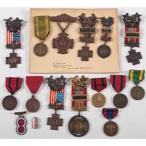 US Army Medals, Inc. Identified Spanish-American War Service Medal, Late Indian Wars, and More