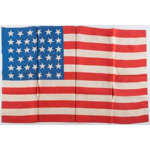 Pair of 39-Star Silk Parade Flags