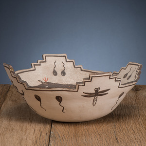 Zuni Polychrome Pottery Bowl, From The Harriet and Seymour Koenig Collection, NY