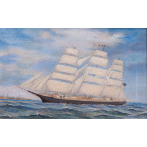 Clipper Ship, Oil on Canvas