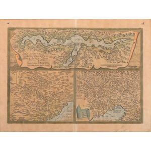 [Cartography - Europe - Italy] Abraham Ortelius, Larii Lacus Vulgo Comensis - 16th Century Italy by a Master Mapmaker; Hand-Coloring