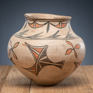 San Ildefonso Polychrome Pottery Olla, From The Harriet and Seymour Koenig Collection, NY