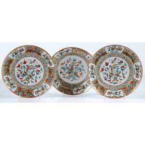 Chinese Export Bird of Paradise Plates