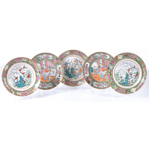 Chinese Export Famille Rose Plates