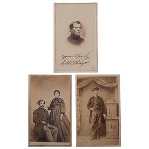 Trio of Civil War CDVs of Union Soldiers
