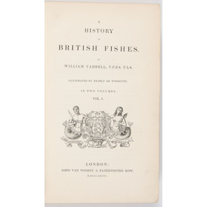 [Natural History - Birds & Fishes - Illustrated]  Yarrell History of British Birds and Fishes, 5 Vols, 19th Century