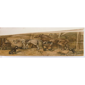 [Illustrated - Fore-edge Painting]  Walford's Cousins, with Fore-edge Painting of Rural Scene with Farrier Shoeing a Horse