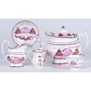 Pink Lusterware Tea Service