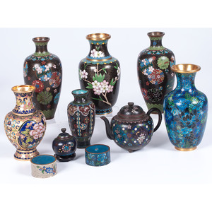 Cloisonné Vases and Other Items