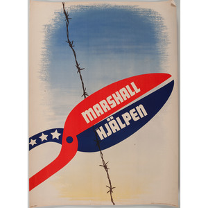 WWII Posters Promoting the Marshall Plan, Lot of 25