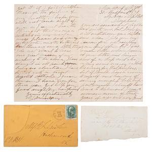 Van Lew Family Archive, Incl. Letters from Civil War Spymaster Elizabeth Van Lew and Slave-Turned-Spy Mary Bowser