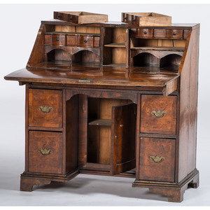English Queen Anne Knee Hole Desk
